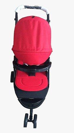 Carrinho de bebe 3 rodas Twister - Vermelho - Dardara