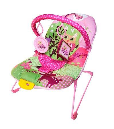 Cadeira Cadeirinha Bebê Musical Vibratória Ballagio (rosa)
