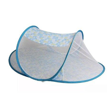 Berço Mosquiteiro  Portátil Infantil -  Color Baby - Azul