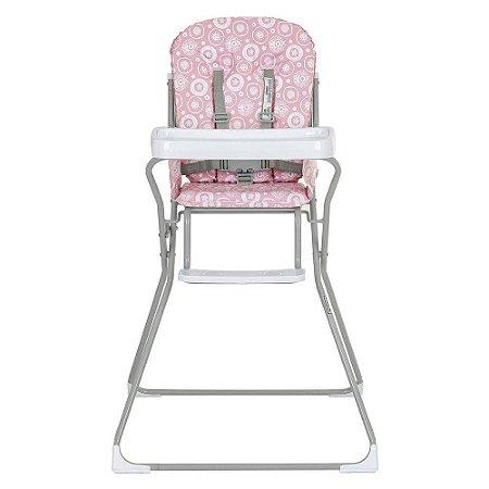 Cadeira De Refeição Bambini Até 15 Kg Rosa Tutti Baby