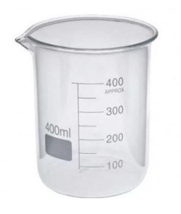 Becker de vidro borosilicato 3.3, graduado, forma alta(berzelius), capacidade: 400ml