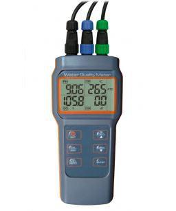 Medidor Multiparâmetro(pH/Cond/OD/Temp); á prova d'água; Faixa: 2.00 a 12.00; AK88