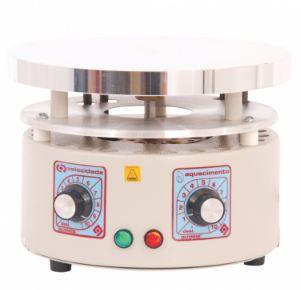 Agitador Magnético Analógico c/ Aquecimento; 1300 rpm; Capacidade de Agitação: até 10 Litros