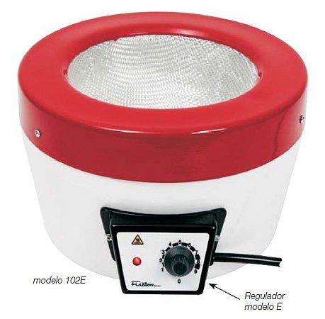 Mantas Aquecedoras c/ Regulador de Potência; Temperatura máx. 300°C; Capacidade de 50 ml à 2,0 Litros