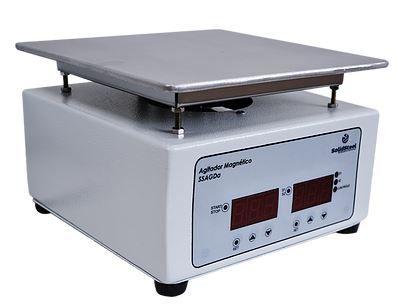 Agitador Magnético Digitais c/ Aquecimento; RPM 0 à 3000; Capacidade: 10 Litros; Temperatura 50°C à 300°C; 350W
