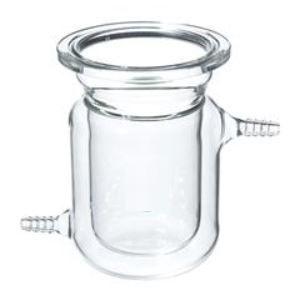 Reator cilindrico encamisado de vidro borosilicato, com flange tipo O-Ring