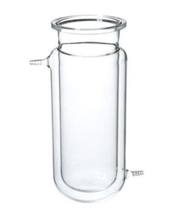 Reator cilindrico encamisado de vidro borosilicato, com flange tipo O-Ring, 5 Litros