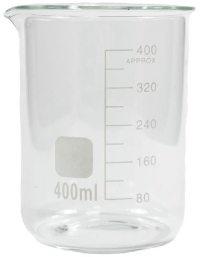 Becker graduado de vidro borosilicato 3.3, forma baixa(Griffin), 400ml