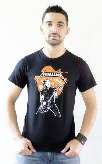 Camiseta Metallica Preta