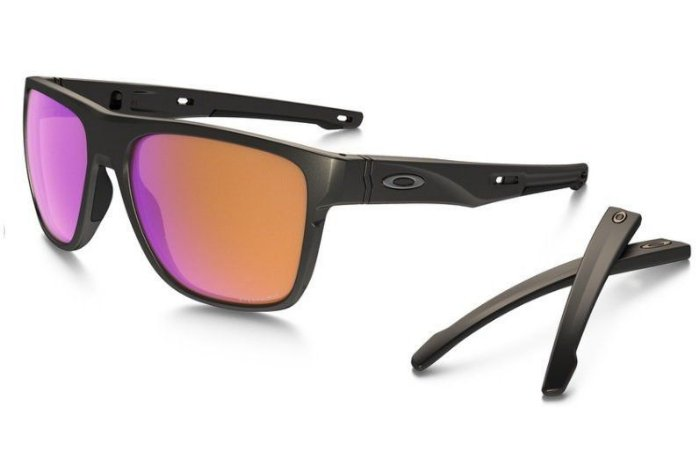 Óculos Sol Oakley Crossrange XL OO9360 0358 Carbono Lente Prizm Trail