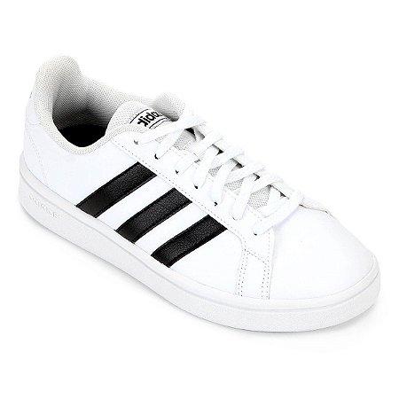 Tênis Adidas Grand Court K - Branco e Preto