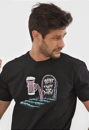 Camiseta Blunt Masculina Enjoy Preta ( B13197 )