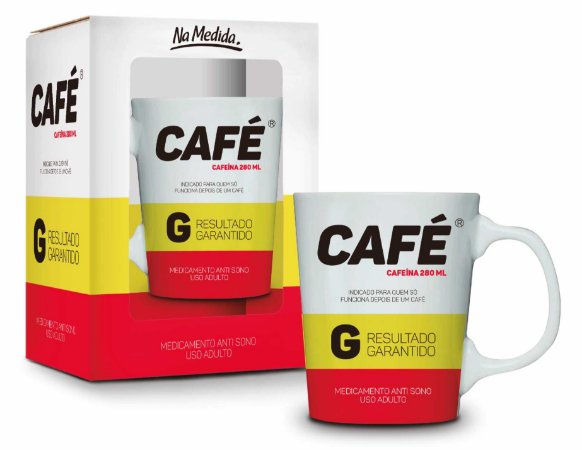 CANECA  PORCELANA PREMIUM - REMÉDIO CAFÉ