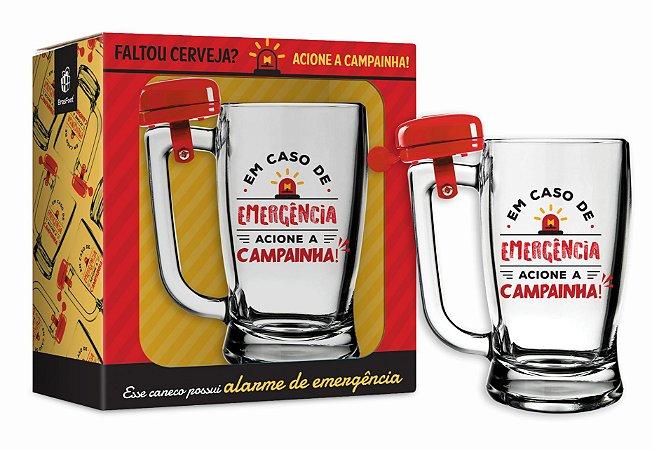 CANECA COM CAMPAINHA - EM CASO DE EMERGÊNCIA