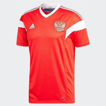 Camisa Seleção Rússia Home 2018 s n°Torcedor Adidas Masculina - Vermelho 1e58456875d