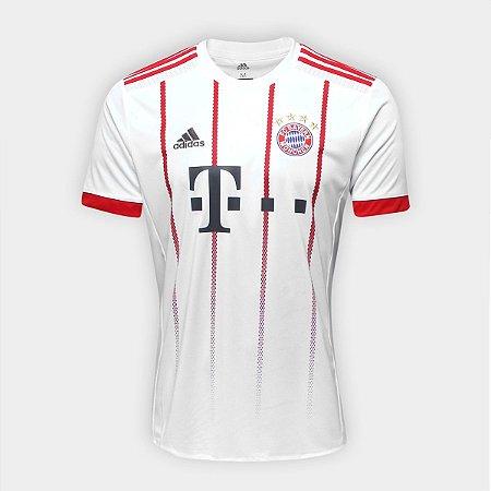 7f8cd7e9ba8a5 Camisa Bayern de Munique Third 17 18 s nº Torcedor Adidas Masculina - Branco