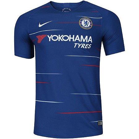 c84be03a26 Camisa Chelsea I 18 19 Nike - Masculina - Outlet Magrinho - Os ...