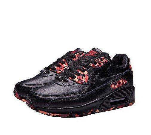 new products 423ac 2d606 Tênis Nike Air Max 90 Feminino City Pack QS London Black Frete Grátis