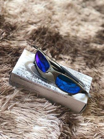 Oculos Oakley Juliet Lente Azul Escuro Frete Grátis - Outlet ... 9d39ec69ab5