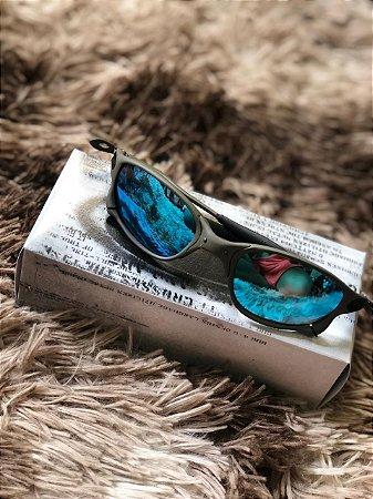 Óculos Oakley Doublex X Lente Azul Bebe Frete Grátis