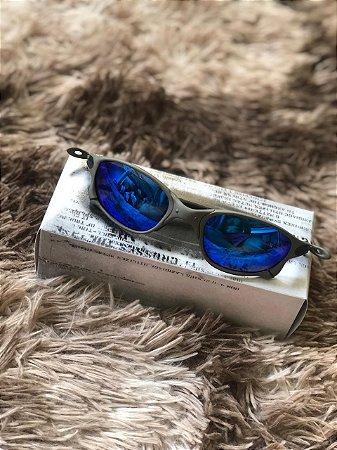 Óculos Oakley Doublex X Lente Azul Escura Frete Grátis