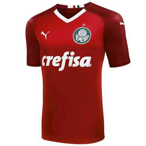 Camisa Puma Palmeiras Vermelha 2019 Masculina (Frete Grátis)