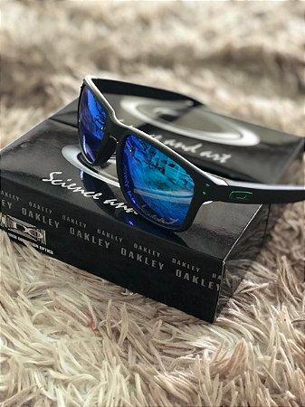 Óculos Oakley Holbrook Verde Com Azul Escuro Frete Grátis