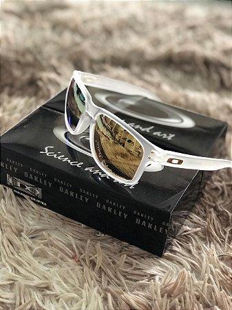 Óculos Oakley Holbrook Lente Dourada Armação Transparente Frete Grátis