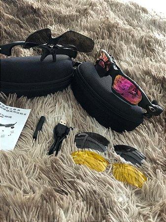 840003a648de5 Óculos Oakley Trump Rosa Mp3 Bluetooth + 3 Lentes Frete Grátis ...