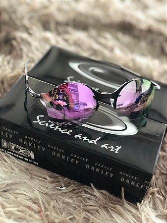 Óculos Oakley Tailend Lente Roxa Armação Preta Frete Grátis