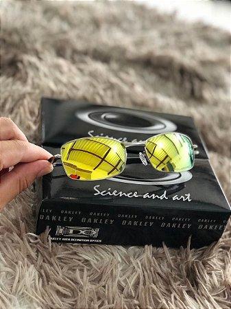 41643383c Óculos Oakley Square Wire 2.0 Lente Dourada Armação Prata Frete Grátis