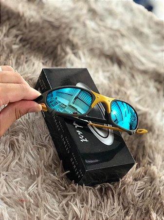 bcd0862dc Óculos Oakley Juliet Lente Azul Armação Chumbo Escuro Frete Grátis ...