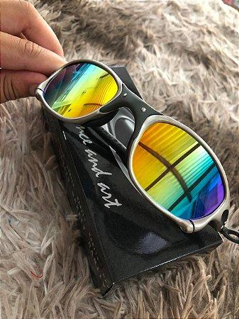 Óculos Oakley Doublex X Tio 2 Lente Arco-Iris Armação Plasma Frete Grátis