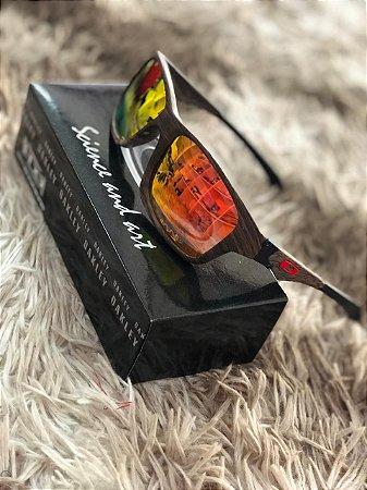 Óculos Oakley Jupiter Lente Vermelha Frete Grátis