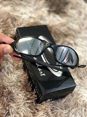 7eb05f99e Óculos Oakley Juliet Lente Prata Armação Preta Frete Grátis - Outlet ...