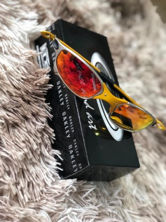 Óculos Oakley Juliet 24k Lente Vermelha Frete Grátis