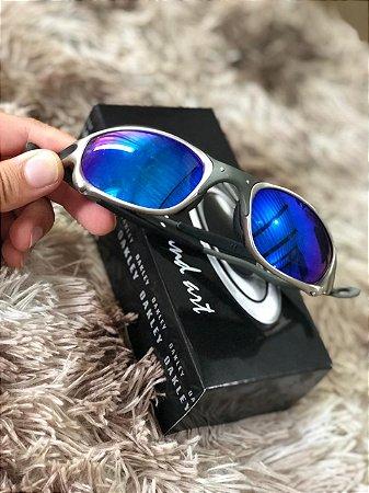 Óculos Oakley Doublex X Tio 2 Lente Azul Escura Frete Grátis