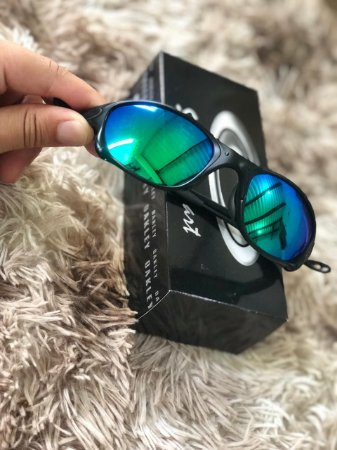 Óculos Oakley Doublex X Lente Verde Armação Preta Frete Grátis
