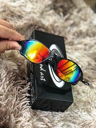 Óculos Oakley Doublex X Lente Arco-Iris Armação Preta Frete Grátis