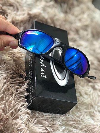 Óculos Oakley Doublex X Lente Azul Escura Armação Preta Frete Grátis
