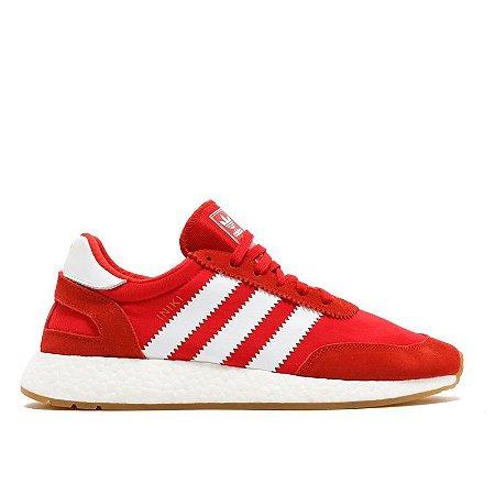 Tênis Adidas Iniiki Vermelho Com Branco Frete Grátis