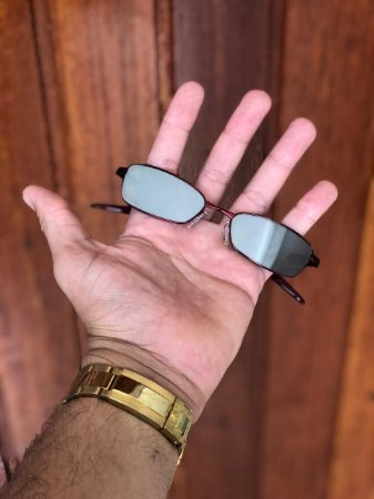 Óculos Oakley Personalizado Mc Menor Mr Lente Prata Frete Grátis