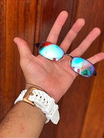 Óculos Oakley Personalizado Mc Menor Mr Lente Azul Clear Frete Grátis