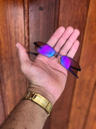 Óculos Oakley Personalizado Mc Menor Mr Lente Roxa Frete Grátis
