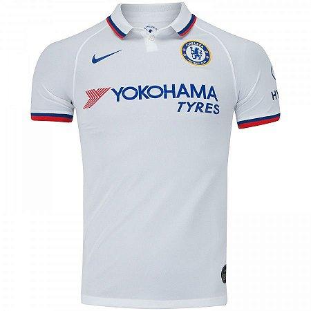 Camisa Chelsea Polo branca 19/20 Nike - Masculina (Frete Grátis)