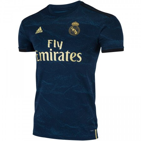 Camisa Real Madrid Azul Com Dourado 19/20 adidas - Masculina Frete Grátis