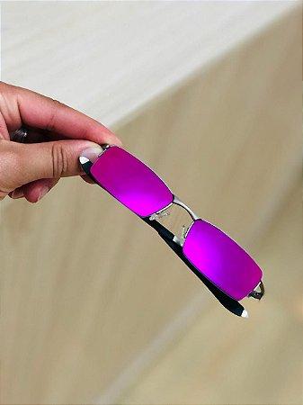 Óculos Oakley Personalizada Lente Rosa Brilho Reto Frete Grátis