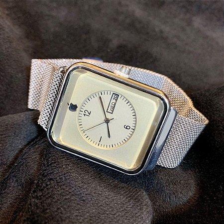 Relógio Apple Prata Frete Gratis