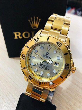 Relógio Rolex Dourado Fundo Braco Frete Gratis