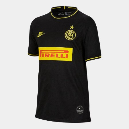 Camisa Inter De Milao Preta19/20 Nike - Masculina Frete Grátis